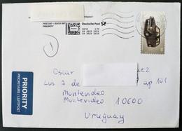 2018 Germany Circulated Cover To Montevideo Uruguay- Car Voiture Wagen Auto - Brieven En Documenten