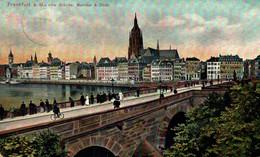 FRANKFURT A.M. ALTE BRÜCKE, MAINKAL & DOM. ALEMANIA GERMANY DEUTSCHLAND - Sin Clasificación