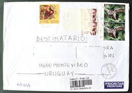 2018 Romania  Circulated Cover To Montevideo Uruguay - Buho Owl Owls Hibou Eule - Brieven En Documenten