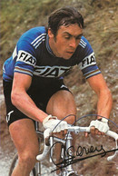 CARTE CYCLISME PATRICK SERCU TEAM FIAT 1977 ( DECOUPE, FORMAT 10,3 X 15,5 ) - Radsport