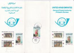 27TH CHESS OLYMPIAD DUBAI 1986. UNITED ARAB EMIRATES FDC. VOLANT AVEC TIMBRE. ECHEC AJEDREZ - LILHU - Schach