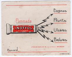 BUVARD - Pommade INOTYOL   *17,8 Cm X 14,1* - Produits Pharmaceutiques
