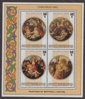 Cook Isl,  Scott 2021 # 892,  Issued 1985, S/S Of 4,  MNH,  Cat $ 6.00,  Christmas - Cook