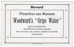 "BUVARD - Woodward's ""Gripe Water""   *20,1 Cm X 12,4* - Produits Pharmaceutiques"