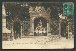 N° 18  - Nancy - Place Stanislas - Grilles En Fer Forgé, Oeuvre De Jean Lamour Fontaine D'Amphitrite  Maca1921 - Nancy
