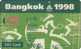 Thailand Phonecard TOT Nr. 002    Asien Games Sport - Tailandia