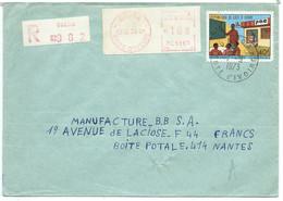 ENVELOPPE COTE D'IVOIRE DALOA 1973 POUR NANTES - Côte D'Ivoire (1960-...)