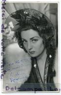 -  Carte Photo De Viviane ROMANCE, Dédicacée, En 1943, à Mr DELLAYE, à Aix En Provence, So, TBE, Scans, - Posters Op Kaarten