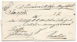Austria 1845 Banat Pancsova - Pancevo Boxed Handstamp From Military Magistrate - ...-1850 Prephilately