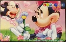 Mobilecard Thailand - 12Call/AIS  - Disney - Mickey & Minnie (5) - Tailandia
