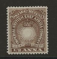 British East Africa, 1890, SG   4, Mint Hinged - Britisch-Ostafrika