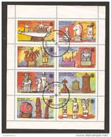 EYNHALLOW - 1976 Scacchi Foglietto 8v. Usato - Schach