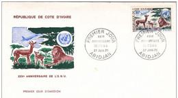 FDC  COTE D'IVOIRE N° Yvert 303 (ONU) - Côte D'Ivoire (1960-...)