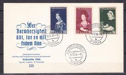 Saarland - 1956 - Michel Nr. 376/378 - Ersttagsbrief - FDC