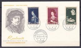 Saarland - 1956 - Michel Nr. 376/378 - Ersttagsbrief - Rembrandt - FDC