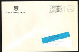 ANDORRE Lettre Format A5 Entête COMU D' ANDORRA LA VELLA Franchise Intérieure SECAP Temp. 125 ANS CROIX ROUGE 5-1-1989 - Altri