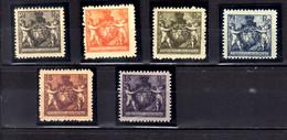 1921 Liechtenstein Landeswappen Mit Putten 2 1/2 Rp To 7 1/2 Rp,13 Rp, 15 Rp Mint Hinged MH* MiNr. 46/9 B, 51/ 52B - Ongebruikt