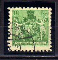1921 Liechtenstein Landeswappen Mit Putten 10 Rp Used MiNr. 50 A KW 22 Mie - Gebruikt