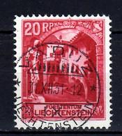 1930 Liechtenstein Freimarken Landschaft 20 Rp Schlosshof Vaduz Used MiNr. 97 - Usados
