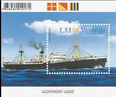 2015 Slovenia Slovenian Ships -frachtschiff Rog - MS - Paper - MNH** MI B 82 - Barcos
