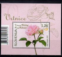 2017 Slovenia Flora Flowers Roses Preseren-Rose MS MNH** MiNr. 1244 (Block 95) - Slovenia