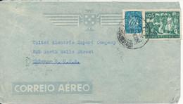 Portugal Air Mail Cover Sent To USA 1-7-1948 - Cartas