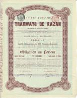 Titre Ancien - Société Anonyme Des Tramways De Kazan - Obligation De 1905 - N° 11484 - Ferrovie & Tranvie