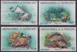 F-EX19458 GRENADINES ST VINCENT MNH 1984 SEA LIFE MARINE FISH PECES - St.Vincent & Grenadines