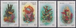 F-EX19480 NEVIS MNH 1986 CORAL FISH FISHING PECES GORGONIA SPONGE - St.Kitts Und Nevis ( 1983-...)