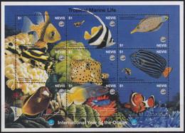 F-EX19534 NEVIS MNH 1998 HF OCEAN TROPICAL MARINE YEAR FISH FISHING PECES - St.Kitts Und Nevis ( 1983-...)