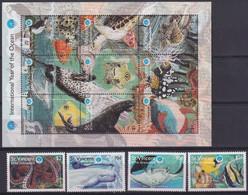 F-EX19541 ST VINCENT GRENADINES MNH 1998 HF SEA LIFE MARINE FISH PECES - St.Vincent & Grenadines
