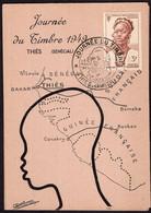 Afrique Occidentale Française - 1949 - Carte Postale - Journée Du Timbre - Thiés (Senegal) - A1RR2 - Zonder Classificatie