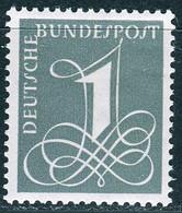 BRD - Mi 285 X - ** Postfrisch (A) - 1Pf  Zifferzeichnung - Unused Stamps