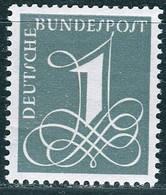 BRD - Mi 285 Y - ** Postfrisch (B) - 1Pf  Zifferzeichnung - Unused Stamps