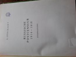 RUSSISCHE POSTCENSUUR 1914-1918 Stempelstudie By A. Speeckaert - Other