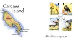 (T 21) Falkland Islands FDC - (2001) Carcass Island - Falklandinseln