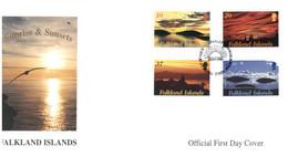 (T 21) Falkland Islands FDC - (2001) Sunrise & Sunsets - Falklandinseln