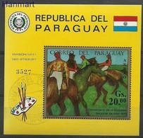 Paraguay 1971 Mi Bl 165 Cancelled ( SZS3 PRGbl165 ) - Paraguay