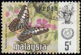 MALAYSIA Kedah - Scott #115 Delias Ninus (*) / Used Stamp - Malaysia (1964-...)