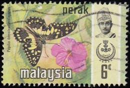 MALAYSIA Perak - Scott #149 Spathoglottis Plicata / Used Stamp - Malaysia (1964-...)