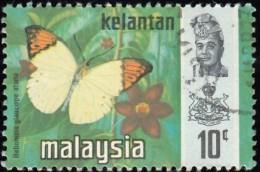 MALAYSIA Kelantan - Scott #102 Hebomoia Glaucippe Aturia (*) / Used Stamp - Malaysia (1964-...)