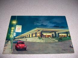 1960s RED VOLKSWAGEN VW BEETLE, CASINO At NIGHT, LEBANON VTG POSTCARD - Líbano