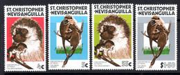 ST CHRISTOPHER NEVIS ANGUILLA - 1978 GREEN MONKEY SET (4V) FINE MNH ** SG 385-388 - St.Christopher-Nevis-Anguilla (...-1980)