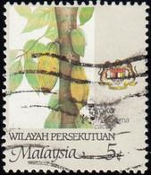 MALAYSIA Wilayah Persekutuan - Scott #3a Theobroma Cacao 'Perf. 14' / Used Stamp - Malaysia (1964-...)