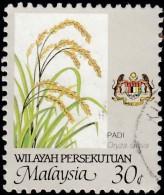 MALAYSIA Wilayah Persekutuan - Scott #7 Oryza Sativa 'Perf. 12' (*) / Used Stamp - Malaysia (1964-...)
