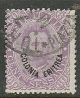 Eritrea, 1893, 60 Cents , Used - Eritrea