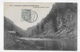 FRANCHE COMTE EN 1907 - N° 294 - LE DOUBS APRES LE SAUT - BEAU CACHET - CPA VOYAGEE - Besancon