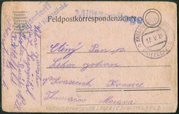 WW1 Austria 1918 POW Card Kriegsgefangenenlager KNITTELFELD KuK Spital Czech Guard Field Post Österreich Feldpost WWI - Cartas