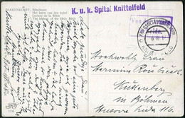 WW1 Austria 1917 POW Camp Kriegsgefangenenlager KNITTELFELD KuK Spital Guard Field Post Österreich Feldpost Postcard WWI - Briefe U. Dokumente