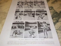 SAUT PERILLEUX SUR PATIN A GLACE DE MISS ADELE INGE 1939 - Pattinaggio Artistico